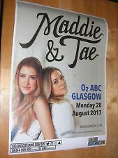 Maddie & Tae - Glasgow aug. tour concert gig poster