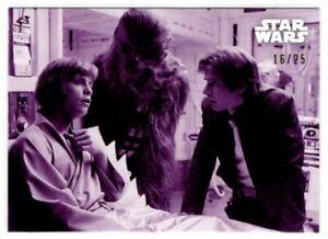 Star Wars ESB Black & White Purple Parallel card, #13 Luke's Recovery, 16/25