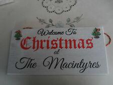 CHRISTMAS DOOR SIGN FOR MACINTYRES