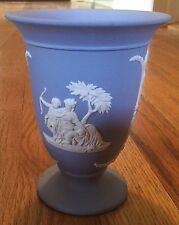 Vintage Wedgewood Jasperware Blue Footed Flared Vase Made in England
