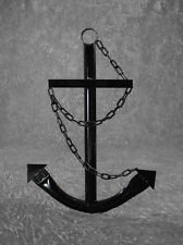 Black Anchor Wall Decor 3' Metal Handmade Nautical Outdoor Yard Decoration New