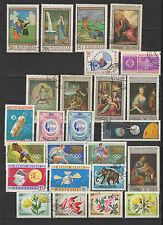 années 60 Mongolie un lot de timbres oblitérés / T1740