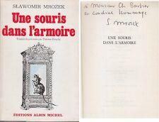 C1 POLOGNE Slawomir MROZEK Une Souris dans l Armoire 1970 DEDICACE Envoi SIGNED