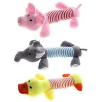 Cute Pet Dog Puppy Chew Toys Squeaker Squeaky SoftPlush Play Sound P3N7