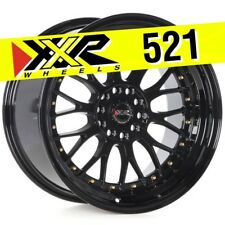 XXR 521 18x10 5-114.3/5-120 +25 Full Gloss Black Wheels (Set of 4) Classic Mesh