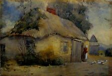 ANTIQUE HUNGARIAN WATERCOLOUR PAINTING