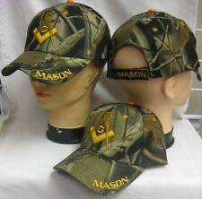 NEW ADJUSTABLE CAMOUFLAGE MASON MASONIC FREEMASONRY FREEMASON MASONRY CAP HAT