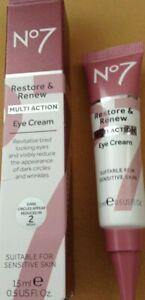BRAND NEW No7 Restore and Renew Multi Action Eye Cream - 15ml -