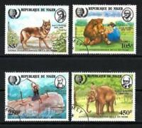 Niger 1985 Animaux sauvages (105) Yvert n° 666 à 669 oblitéré used