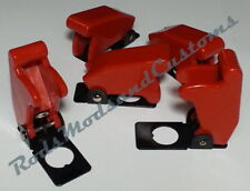 5 x RED MISSILE SWITCH COVERS suit 12mm toggle switch car racing dash light