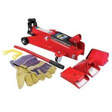 Combination Home Mechanics Kit Trolley Jack Wheel Chocks Work Gloves - Top Tech