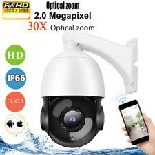 Outdoor IP Camera 30X ZOOM Optical CCTV PTZ HD 1080P Dome Security IR Cam Kits