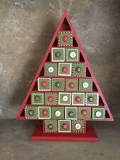 Vendita inviare il cielo in Legno Albero di Natale numeri pulsante Calendario dell'Avvento 33 cm