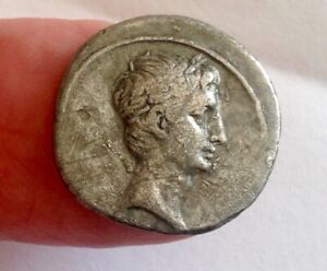 AUGUSTUS - A SCARCE HISTORIC SILVER DENARIUS !