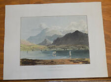 1821 Print, Aquatint Tour of English Lakes///CONISTON WATER