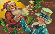 Merry Christmas Santa Clause Christmas Wishes Postcard Lot of 3 Printed A01