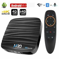 TV Box Android 10 4GB 32GB 64GB 4K Lettore multimediale video 3D WI-FI BLUETOOTH SMART TV