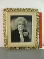 MATSON ORNATE GOLD GILT METAL ANTIQUE PICTURE FRAME VICTORIAN ROSE FLOWER 12x14
