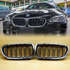 BMW F10 Chrome Shiny Black Front Grille M5 Look 11-16 Sedan Wagon