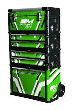 Motamec Racing GREEN Modular Tool Box Trolley Mobile Cart Cabinet Chest C41H