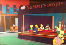 THE SIMPSONS Poster - Nighthawks Full Size Print  ~ Homer Krusty Mr Burns