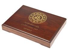 Lunar Serie II Münzbox / Box / Münzenbox / Münzkassette für 12x 1 Oz Gold - HOLZ
