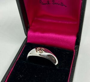 Paul Smith PS STERLING SILVER RING BOXED Size W