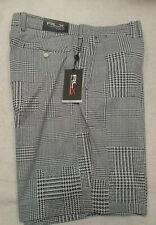 RLX Ralph Lauren Performance Fabric Patchwork Houndstooth Golf Shorts 36 $98.50