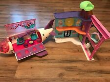 Littlest Pet Shop Pet In the City Pet Shop and Jet Plane Playsets Lot