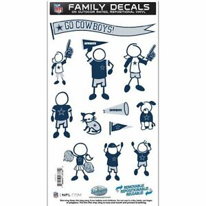 NFL Dallas Cowboys Medium Family Decal Set