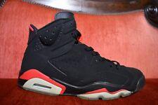 2000 Nike Air Jordan VI 6 Retro + BLACK DEEP INFRARED RED BRED 136038-061 12