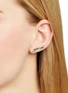 NWT $75 KENDRA SCOTT Sinclair Ear Climbers Earrings Gold Tone Stones Crystals