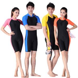 Men Women Youth Scuba Diving Wetsuit Short Sleeve Surfing Snorkeling Swim Suit
