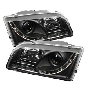 Volvo 00-03 S40 / V40 Black DRL LED Projector Headlights Lamp Set Sedan / Wagon