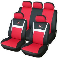 Autositzbezüge Sitzbezug Schonbezug Universal Schonbezüge Schwarz/Rot AS7312