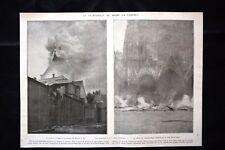 Cathédrale de Reims en flammes Aumonerie militaire WW1 Guerra 1914 - 1918