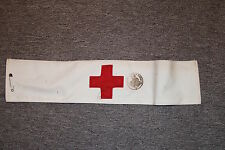 GOOD ORIGINAL US AMERICAN ARMY MEDIC MEDICAL WW2 ARMBAND ISSUED TO FRENCH