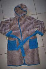 ORCHESTRA * Superbe peignoir éponge à capuche * gris/bleu * 4 ans