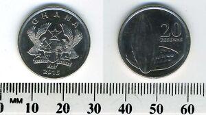 Ghana 2016 - 20 Pesewas Nickel Plated Steel Coin - Split open cocoa pod