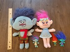 Dreamworks Trolls Bundle Lot  Poppy  Branch Soft Plush Toy Dolls figures EUC