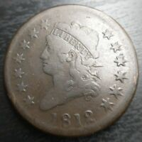 1812 Classic Head Large Cent S-289 Large Date Stunning Original Deep Brown EAC