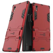 For Sony Xperia XA1 Plus Phone Case Armor Kickstand Slim Hard Cover Red / Black