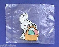 Hallmark PIN Easter Vintage BUNNY RABBIT EGG BASKET Holiday Brooch MIP
