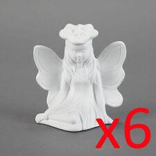 Ceramic Bisque Kids Party Plaster Painting Figurine - Fairy Princess x 6