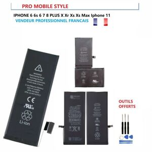 BATTERIE INTERNE NEUVE POUR IPHONE 5S 5C SE 6 6S 7 8 PLUS X XS MAX 11 PRO MAX