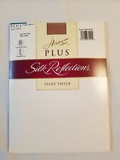 HANES SILK REFLECTIONS PLUS  CONTROL TOP PANTYHOSE SIZE 3 PLUS LITTLE COLOR   41