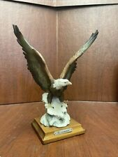 "Giuseppe Armani 9.5"" Tall Bald Eagle On Snow Figurine Statue"