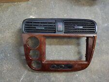 2001-2005 Honda Civic woodgrain climate control bezel,EM2, EP3, DC5,ES1,ES2,EL.