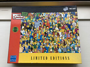 The Simpsons Jigsaw Puzzle - The Cast - Blue Opal Limited Editions 1000 Pieces