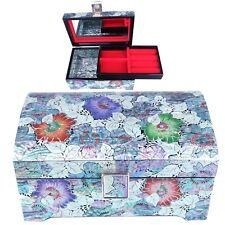 Jewelry Box Mother of Pearl Jewelry Organizer Jewelry Holder Craftsman 5029F
